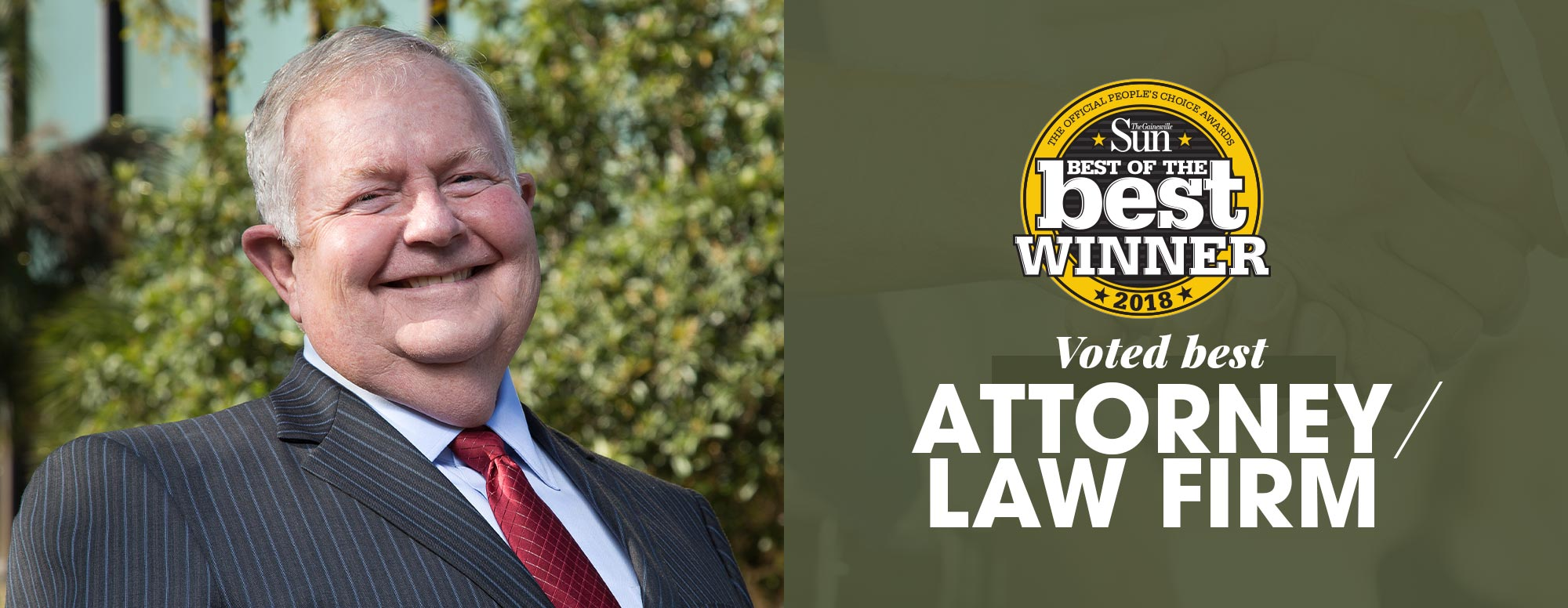 Voted Best Gainesville Attorney / Law Firm - Family Law, Business Law, Estate Planning, Probat and Civil Appeals