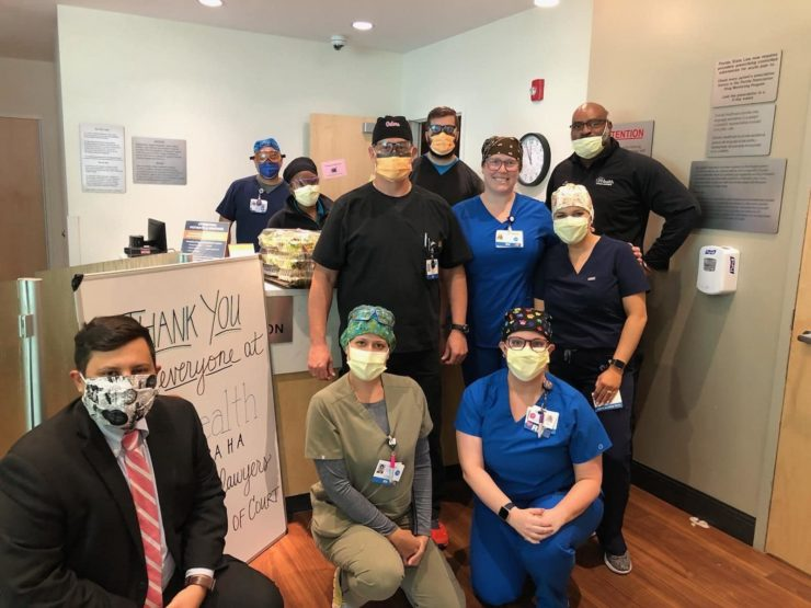 Knellinger & Associates participates in the effort of the Gerald R. Bennett Inn of Court to thank the emergency care workers at UF Health at Kanapaha.